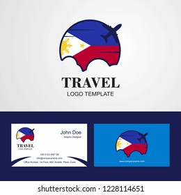 Travel Phillipines Flag Logo and Visiting Card Design