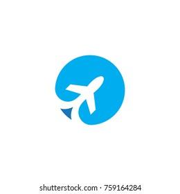 travel plane logo template