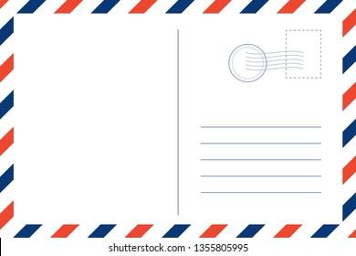 Travel postcard blank