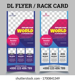 Travel Postcard Rack-card DL Flyer Design / Tour Dl flyer / Rack Card