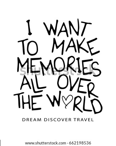 travel quote inspirational saying typography vector stock vector