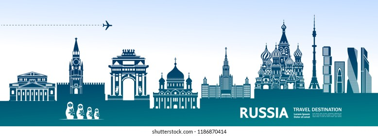Travel To Russia vector illustration.