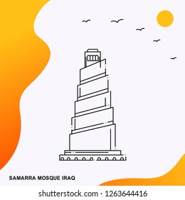 Travel SAMARRA MOSQUE IRAQ Poster Template