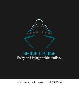 Travel Ship Logo Design Template. Vector Illustration