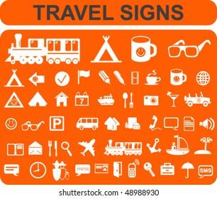 Travel Signs Set