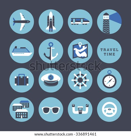 Travel Signs Symbols Icons Stock Vector Royalty Free 336891461