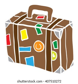travel suitcase cartoon illustration