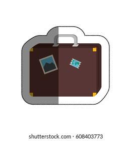 travel suitcase isolated icon