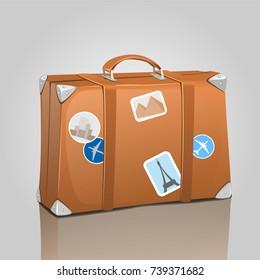 suitcase stickers images stock photos vectors shutterstock