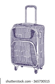 Travel suitcase vector drawing