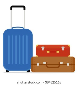 Travel Suitcases Vector