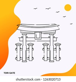Travel TORI GATE Poster Template