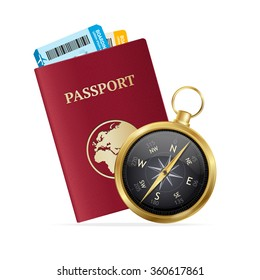 Travel and Tourism Concept. Choice Of Holiday. Vector illustration