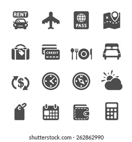 travel and vacation icon set 6, vector eps10