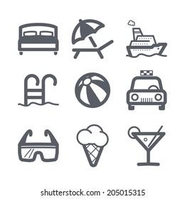 Travel and vacation Icons set Illustration set // 03