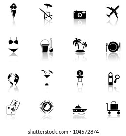 Travel & Vacation, icons set. Part 1