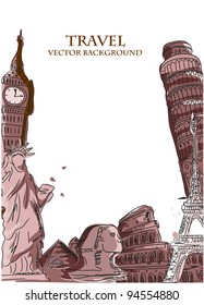 Travel vector background