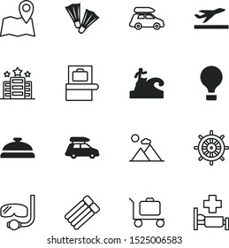 travel vector icon set such as: set, surfer, scanning, start, security, seaman, airline, patient, medical, hand, aviation, mark, rocky, label, desk, high, rock, place, scuba, machine, boat