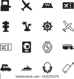 travel vector icon set such as: fun, 10, taxi, inspection, action, north, hand, button, station, holidays, guidance, ray, coconut, coco, cab, way, scanner, wheel, scooter, palmtree, immigration