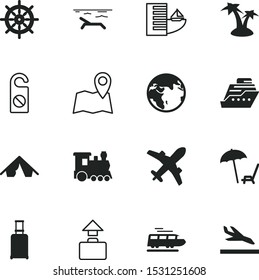 travel vector icon set such as: arrival, arrive, equipment, palmtree, seacoast, sky, internet, island, deck, relaxing, international, fashion, digital, activity, planet, architecture, cruiser