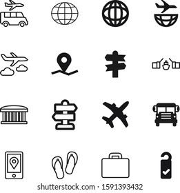 travel vector icon set such as: hotel, suit, sea, airline, knob, set, briefcase, knowledge, digital, sandal, finance, drawing, saint, make, baggage, card, drive, hanger, ecology, city, please, summer