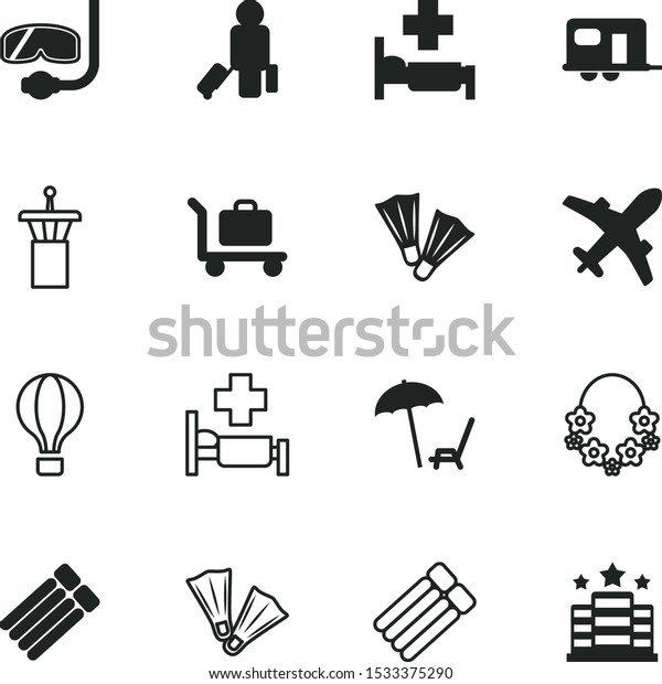 Travel Vector Icon Set Such Departure Stock Vector Royalty Free 1533375290