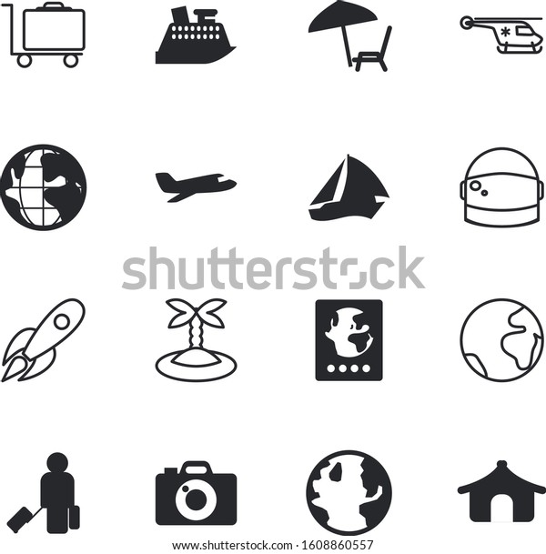 travel vector icon set such man stock vector royalty free 1608860557 shutterstock