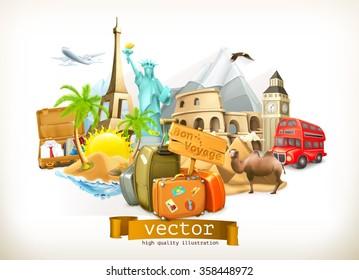 Travel, vector illustration