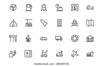 Travel Vector Line Icons 5