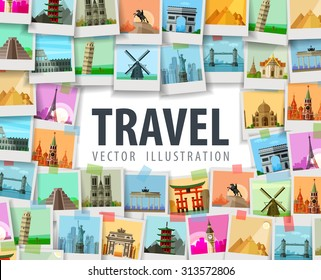travel vector logo design template. trip or vacation icon