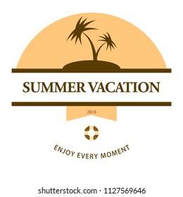 travel vintange badge design summer
