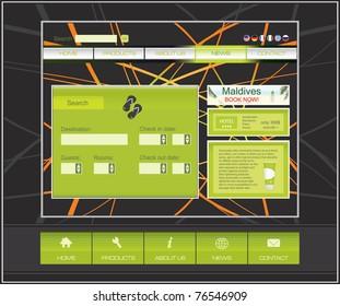 Travel website template design vector