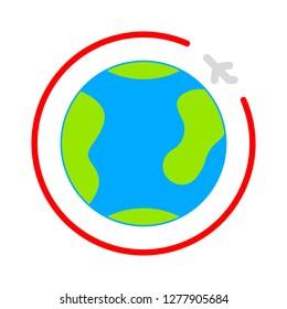 travel world icon- travel world isolated, travel globe illustration - Vector globe