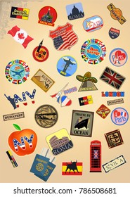 Traveler of the world  stickers