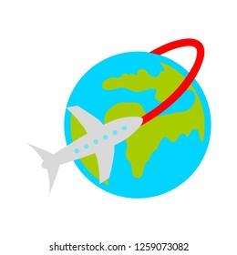 traveling around the world icon
