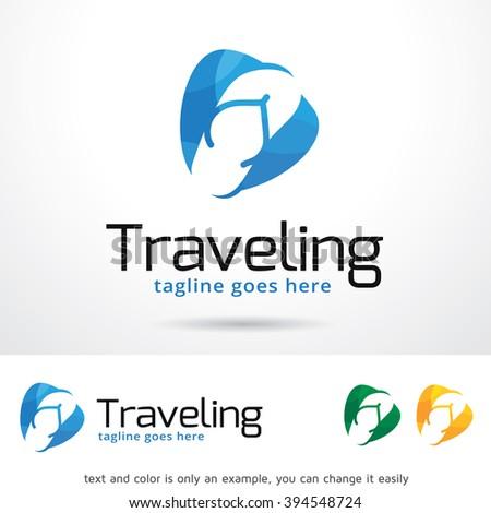 Traveling Logo Template Design Vector Vector de stock (libre de ... 18c53748a2cc