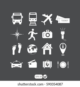 Traveling and transport icons for Web and Mobile App.