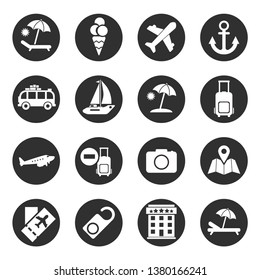 Traveling,transport and hotel icons