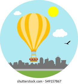 Travelling in the balloon for fun