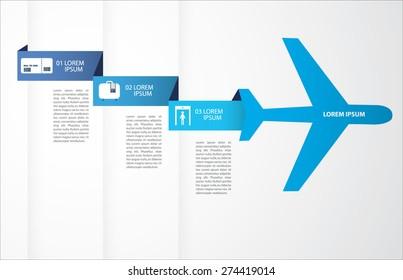 travel/plane info graphics vector/illustration