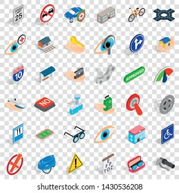 Traverse icons set. Isometric style of 36 traverse vector icons for web for any design
