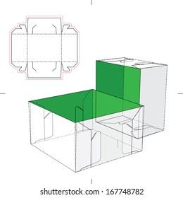 Similar images stock photos vectors of product display box tray box with lid and blueprint layout malvernweather Images