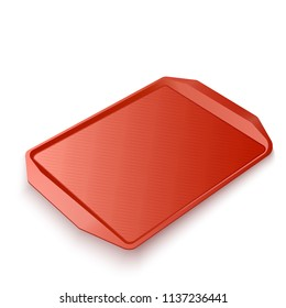 Tray Salver isolated on white background. Vector