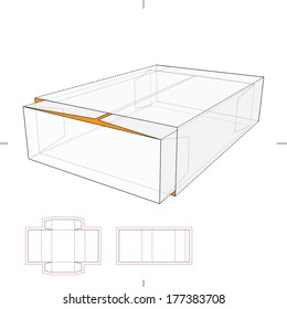 Tray and Sleeve Storage Box with Die-cut Layout
