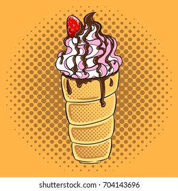 Trdelnik spit cake pop art hand drawn vector illustration.