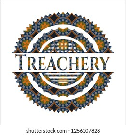 Treachery arabesque emblem background. arabic decoration.