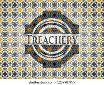 Treachery arabesque style badge. arabic decoration.