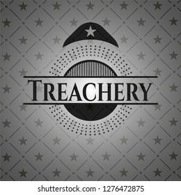 Treachery black emblem. Vintage.