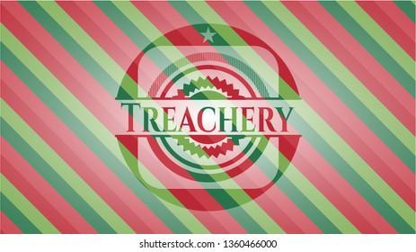 Treachery christmas style emblem.