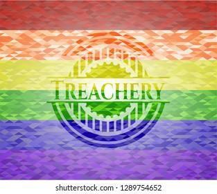 Treachery lgbt colors emblem